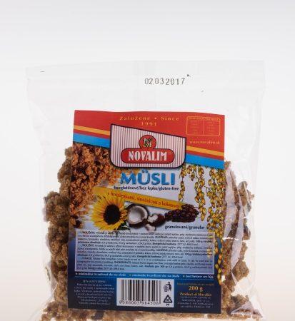 Bezlepkové granulované musli s hrozienkami