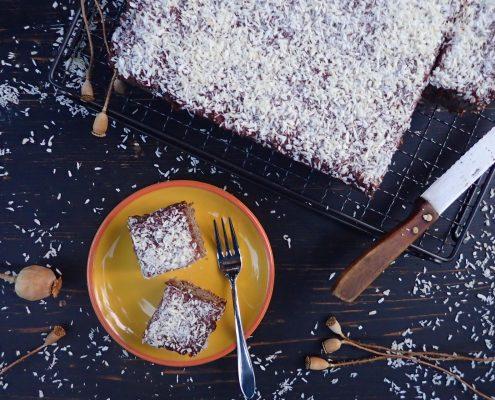 Makový jablečný koláč bez lepku