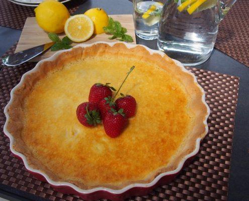 citronový koláč bez lepku