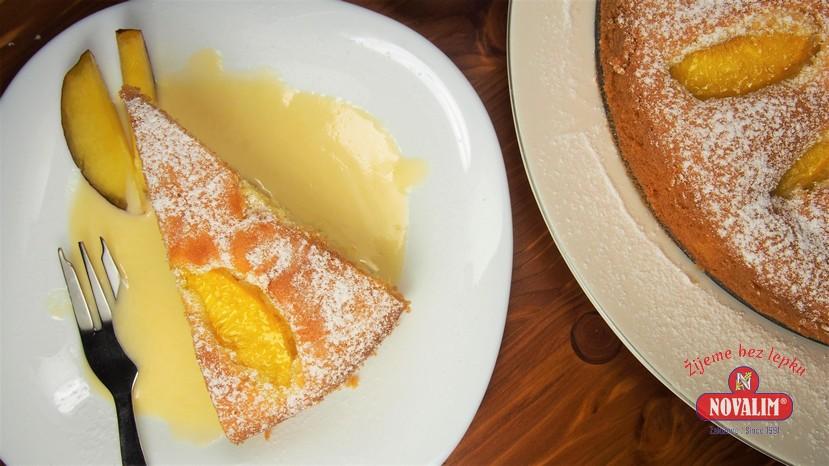 broskyňový koláč bez lepku