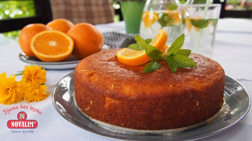 pomarančová torta bez lepku