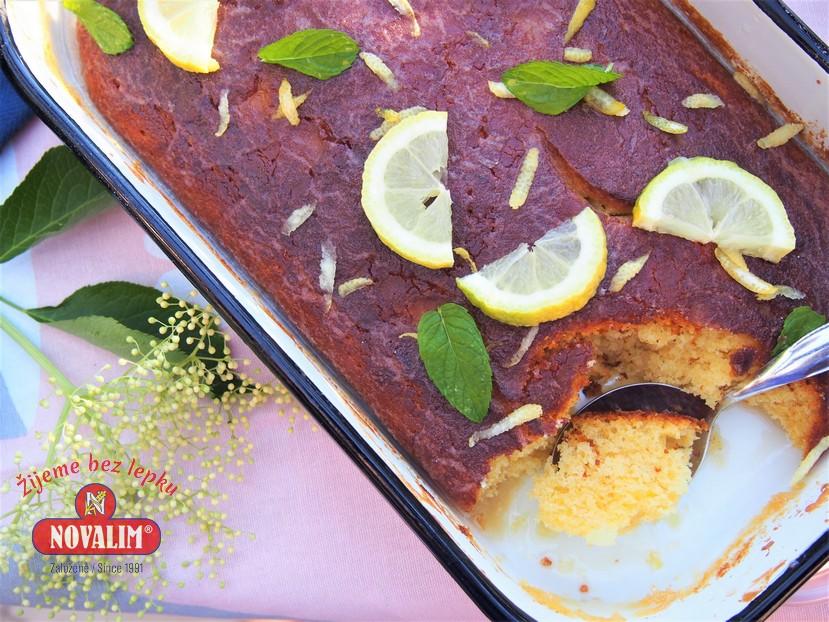 bazový citrónový koláč bez lepku